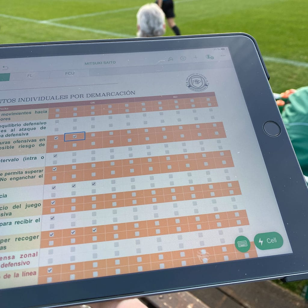 scouting online Online Master in High Performance Football MBP