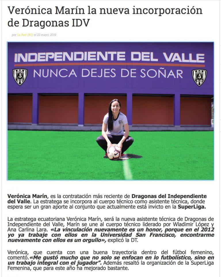 2019 06 03 Veronica Marin Independiente del Valle Press MBP